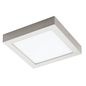 Mobile Preview: Eglo 32445 Fueva 1 LED Wand-/Deckenleuchte 18W 22,5x22,5cm Nickel