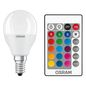 Mobile Preview: OSRAM LED STAR+ E14 P LED Lampe 5,5W 470Lm Warmweis + RGB + Fernbedienung