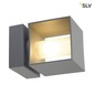 Preview: SLV 1000335 SQUARE TURN QT14 Outdoor Wandleuchte silbergrau max. 42W IP44