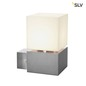 Preview: SLV 1000336 SQUARE WALL E27 Outdoor Wandleuchte Edelstahl max. 20W IP44