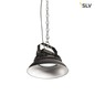 Preview: SLV 1000828 PARA FLAC LED Pendelleuchte schwarz 150W 4000K IP65