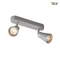 Mobile Preview: SLV 1000891 AVO CW Double Indoor Wand- und Deckenaufbauleuchte QPAR51 silber max. 50W