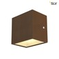 Preview: SLV 1002034 SITRA CUBE WL LED Outdoor Wand- und Deckenaufbauleuchte rost farbend IP44 3000K 10W