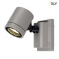 Preview: SLV 233104 NEW MYRA WALL Wandleuchte silbergrau GU10 max. 50W IP55