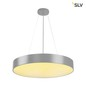 Preview: SLV 135124 MEDO 60 LED Deckenleuchte silbergrau optional abpendelbar