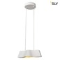 Preview: SLV 147831 WAVE PENDANT Pendelleuchte weiss 9W LED 3000K inkl. Rosette