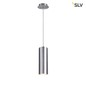 Mobile Preview: SLV 149385 ENOLA Pendelleuchte rund alu brushed E27 max. 60W