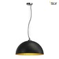 Mobile Preview: SLV 155530 FORCHINI Pendelleuchte PD-1 rund schwarz gold E27 max. 40W