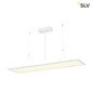 Preview: SLV 158854 I-PENDANT PRO Premium LED Pendelleuchte 1195x295mm UGR<19 4000K weiss