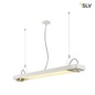 Preview: SLV 159131 AIXLIGHT R2 OFFICE LED Pendelleuchte weiss LED + 2xQPAR111 max. 75W 122,5cm