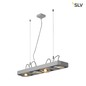 Preview: SLV 159224 AIXLIGHT R2 LONG LED GU10 QPAR111 Pendelleuchte halbrund silbergrau