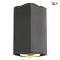 Preview: SLV 229575 BIG THEO UP DOWN OUT Wandleuchte eckig anthrazit ES111 max. 2x75W