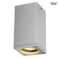 Mobile Preview: SLV 229584 THEO CEILING OUT Deckenleuchte eckig silbergrau GU10 max. 35W