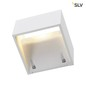 Preview: SLV 232101 LOGS WALL Wandleuchte eckig weiss 6W LED warmweiss