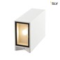 Preview: SLV 232441 QUAD XL 2 Wandleuchte eckig weiss LED 2x3,2W 3000K up-down