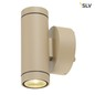 Mobile Preview: SLV 233233 HELIA UP DOWN Wandleuchte sandy beige 2x6W LED 3000K
