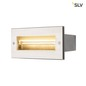 Mobile Preview: SLV 233661 BRICK Outdoor Wandeinbauleuchte Pro LED 3000K edelstahl 230V IP67 850Lm 10W