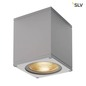 Preview: SLV 234524 BIG THEO WALL Outdoor Wandleuchte Flood down LED 3000K silbergrau B H T 13 14 13,5 cm