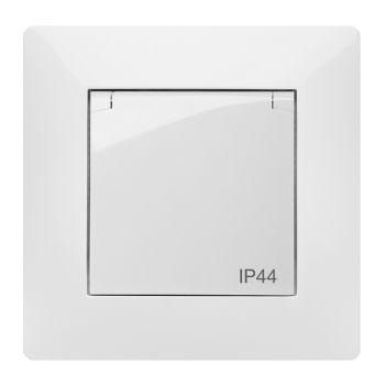 steckdose mit deckel unterputz ip44 f r feuchtraum spritzwassergesch tzt wei ebay. Black Bedroom Furniture Sets. Home Design Ideas