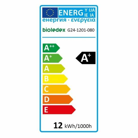 Bioledex G24 LED Lampe 12W 1050Lm PLC 3000K Ø38mm Warmweiss
