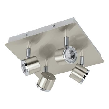 Eglo 93696 Pierino LED Spot 4x5W Stahl nickel-matt chrom