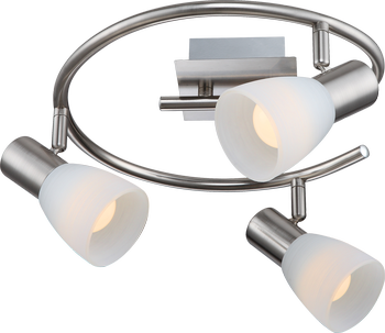 Globo 54534-3 Parry I LED Deckenleuchte 12W Nickel matt warmweiss