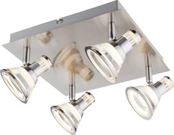 Globo 56956-4 Takiro LED Deckenleuchte 20W Nickel matt warmweiss