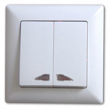 visage 2 fach lichtschalter serienschalter beleuchtung weiss 1281100200104 ebay. Black Bedroom Furniture Sets. Home Design Ideas