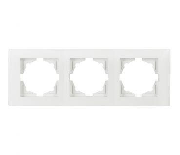Gunsan Moderna 3-fach Rahmen für 3 Steckdosen Schalter Dimmer Weiss
