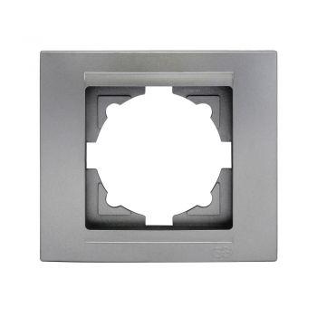 Gunsan Moderna 1-fach Rahmen für 1 Steckdose Schalter Dimmer Silber