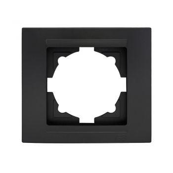 Gunsan Moderna 1-fach Rahmen für 1 Steckdose Schalter Dimmer Schwarz
