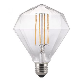 Nordlux E27 LED Birne Avra Diamant Filament 2W 150Lm warmweiss klar