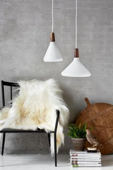 nordlux 78213001 float e27 pendelleuchte glas holz opal weiss. Black Bedroom Furniture Sets. Home Design Ideas