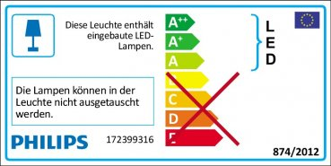 Philips LED Aussenleuchte Ledino Freedom mit Sensor 3W warmweiss 17239/93/16