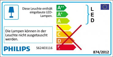 Philips LED Wandleuchte myLiving Star 3W 170Lm warmweiss 56240/31/16