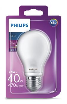 philips e27 led birne ledclassic 4 5w 470lm warmweiss. Black Bedroom Furniture Sets. Home Design Ideas