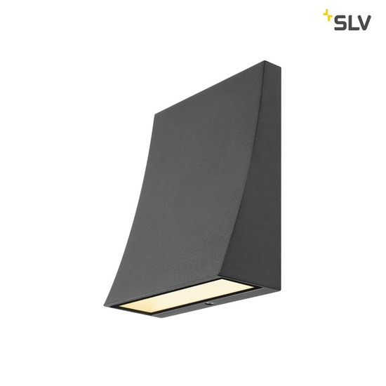 SLV 1000342 DELWA WIDE LED Outdoor Wandleuchte 3000K 100° anthrazit IP44