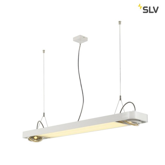 SLV 159131 AIXLIGHT R2 OFFICE LED Pendelleuchte weiss LED + 2xQPAR111 max. 75W 122,5cm