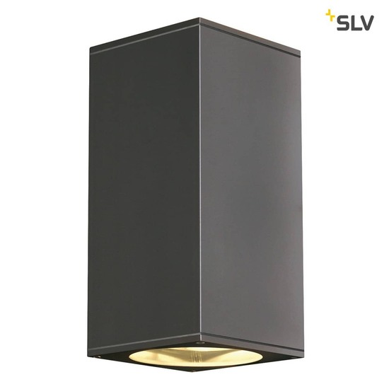 SLV 229575 BIG THEO UP DOWN OUT Wandleuchte eckig anthrazit ES111 max. 2x75W