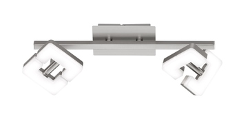 Wofi Zara LED Deckenspot 2-fach 10,4W nickel matt