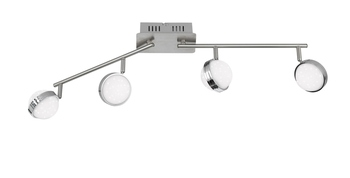 Wofi Ster LED Deckenleuchte 8-fach 24W Nickel-matt chrom