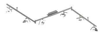 Wofi Zara LED Deckenspot 6-fach 31,2W nickel matt