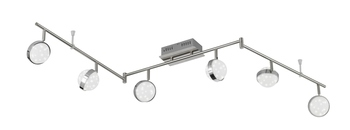 Wofi Monde LED Deckenleuchte 6-fach 36W Nickel-matt chrom