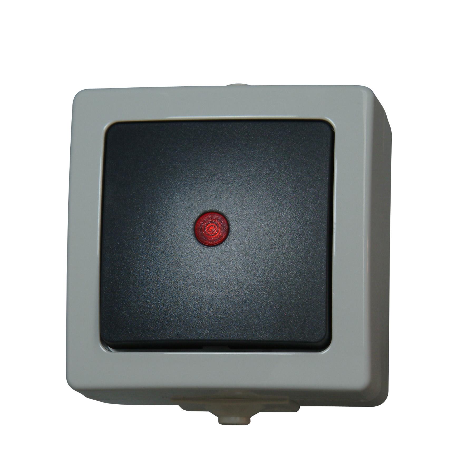 kopp aufputz feuchtraum kontrollschalter aus. Black Bedroom Furniture Sets. Home Design Ideas