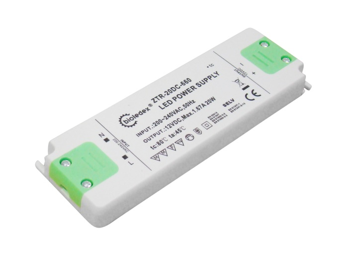 Bioledex 20w 12v dc trafo f r led lampen for Lampen 12v 20w