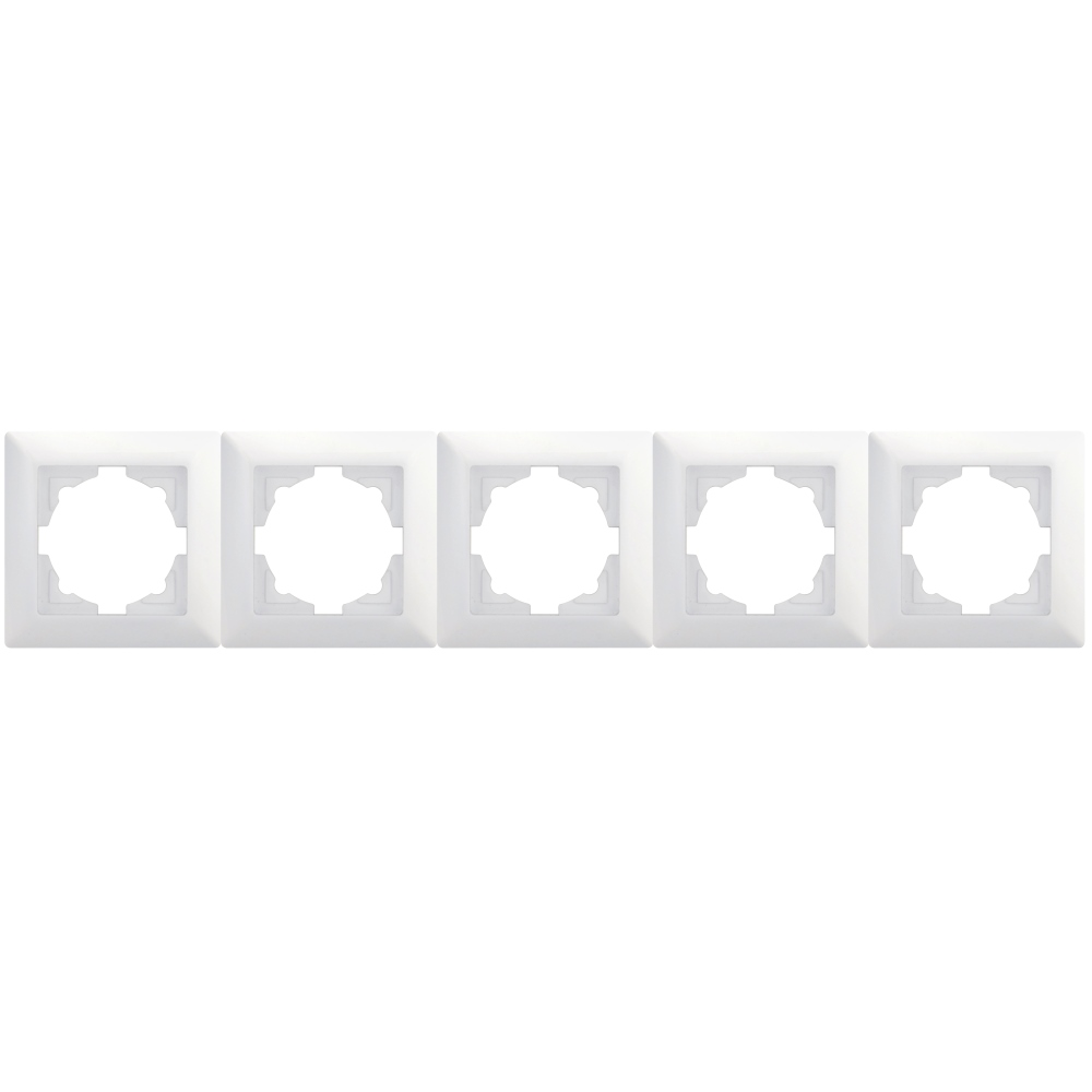Visage 5-fach Rahmen für 5 Steckdosen Schalter Dimmer