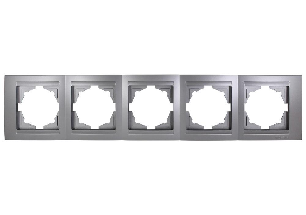 Gunsan Visage 5-fach Rahmen Steckdosen Schalter Dimmer
