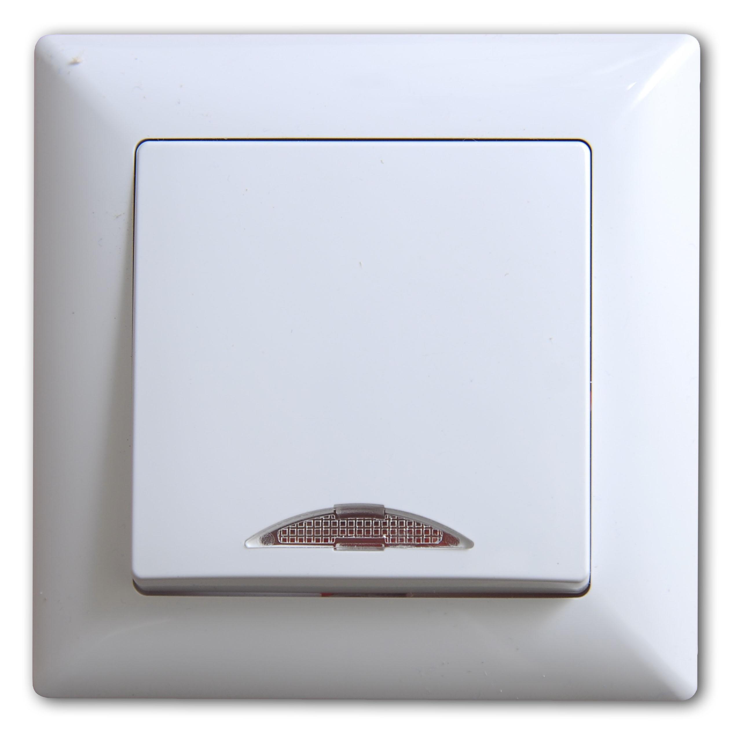 Beleuchtung Schalter | Visage Schalter Ein Ausschalter Mit Beleuchtung Weiss
