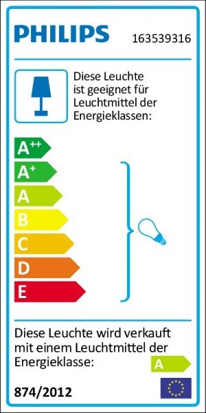Philips ES-Sockelleuchte Ecomoods Bridge 14W anthrazit 16353/93/16