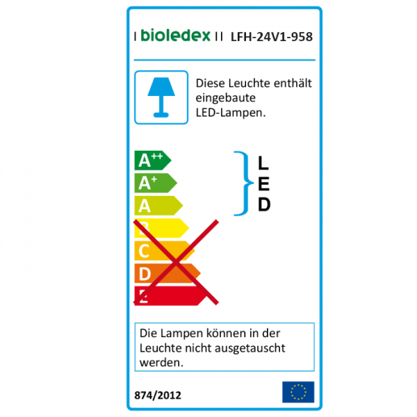 Bioledex VEGO LED Deckenleuchte 24W Ø32cm Warmweiss